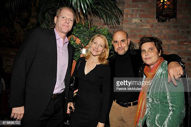 Toby Emmerich Patricia Clarkson Stanley Tucci and Kate Spath attend THE CINEMA SOCIETY DETAILS host a screening of MILK at Landmark Sunshine Theater...
