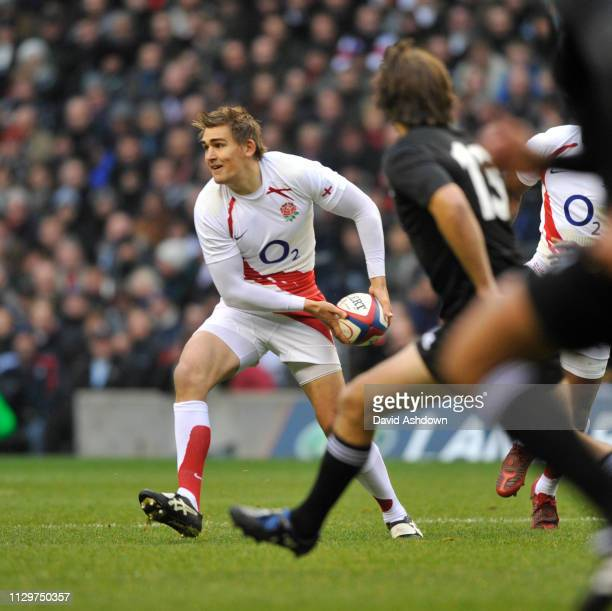 Toby Flood during England v New Zealand Rugby Union at Twickenham 29th November.