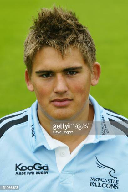 Toby Flood pictured during the Newcastle Falcons squad photocall at Kingston Park on August 10, 2004 in Newcastle, England.