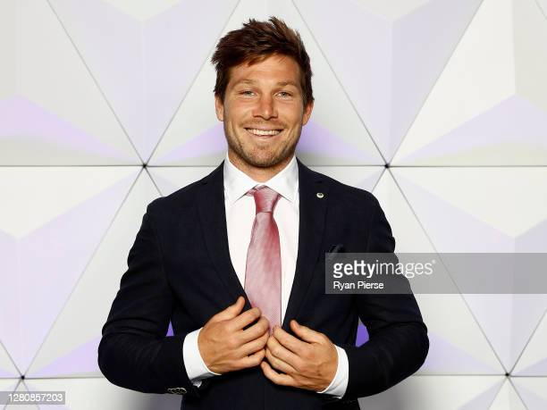 Toby Greene of the Giants attends the Sydney Brownlow Medal Function at the Sydney Cricket Ground during the 2020 AFL Brownlow Medal count on October...