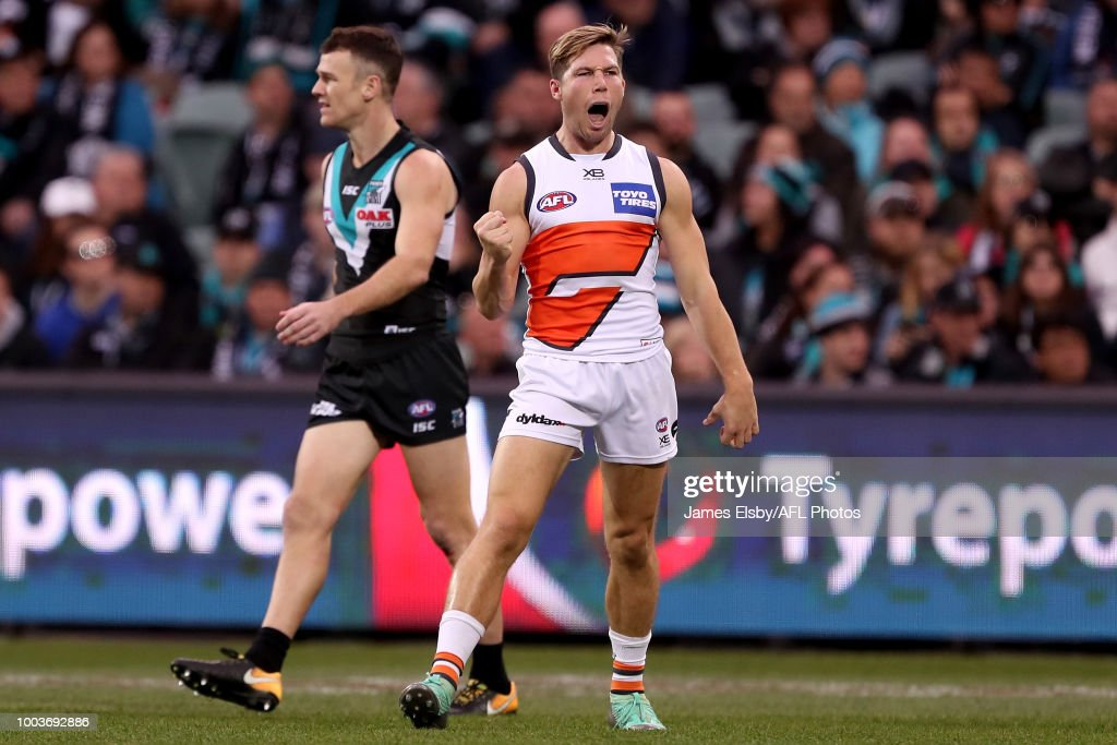 AFL Rd 18 - Port Adelaide v GWS : News Photo