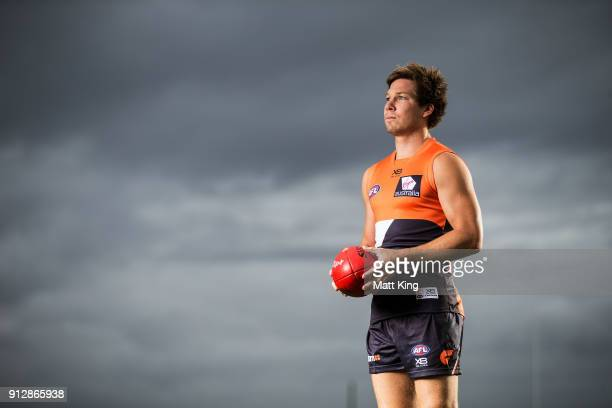 Toby Greene poses during the Greater Western Sydney Giants AFL media day on February 1 2018 in Sydney Australia