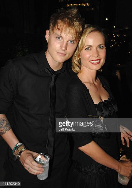 """Toby Hemingway and Radha Mitchell at the """"Feast of Love"""" after party at The Academy of Motion Picture Arts and Sciences on September 25, 2007 in Los..."""