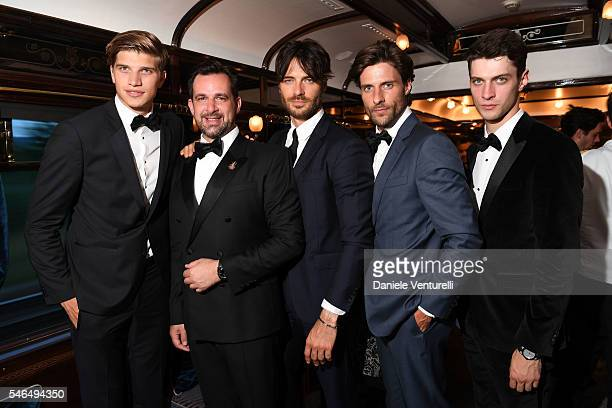 Toby Huntington Whiteley Stephane Gerschel Giulio Berruti Tommy Dunn and Matthew Bell attend Bvlgari Le Gemme Men's Collection on July 11 2016 in...