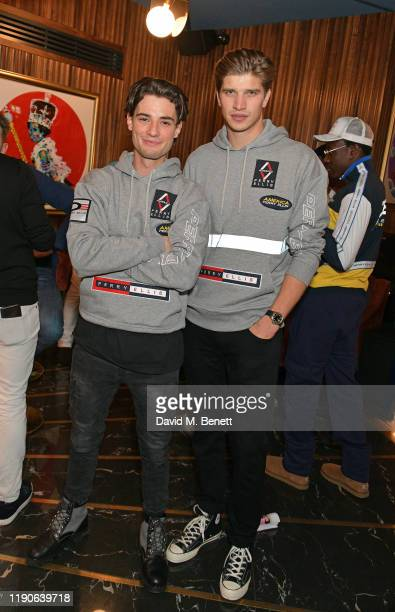 Toby HuntingtonWhiteley and Jack Brett Anderson attend a Thanksgiving lunch hosted by Perry Ellis America at The Court on Kingly Street to celebrate...