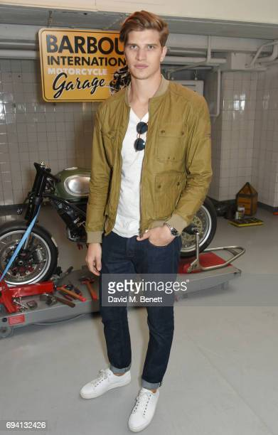 Toby HuntingtonWhiteley attends the Barbour International presentation during the London Fashion Week Men's June 2017 collections on June 9 2017 in...
