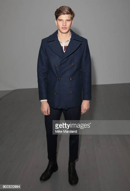 Toby HuntingtonWhiteley attends the Christopher Raeburn Show during London Fashion Week Men's January 2018 at on January 7 2018 in London England