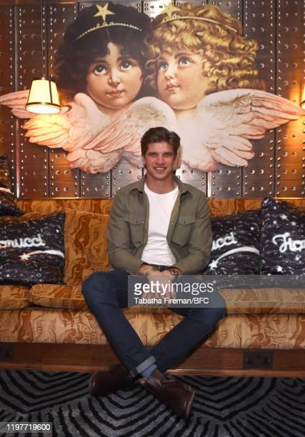 Toby HuntingtonWhiteley attends the Daniel Fletcher x Fiorucci Launch during London Fashion Week Men's January 2020 on January 05 2020 in London...