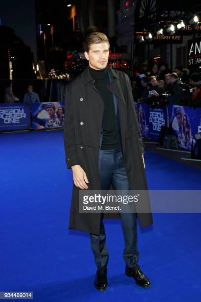 Toby HuntingtonWhiteley attends the European Premiere of 'Ready Player One' at the Vue West End on March 19 2018 in London England