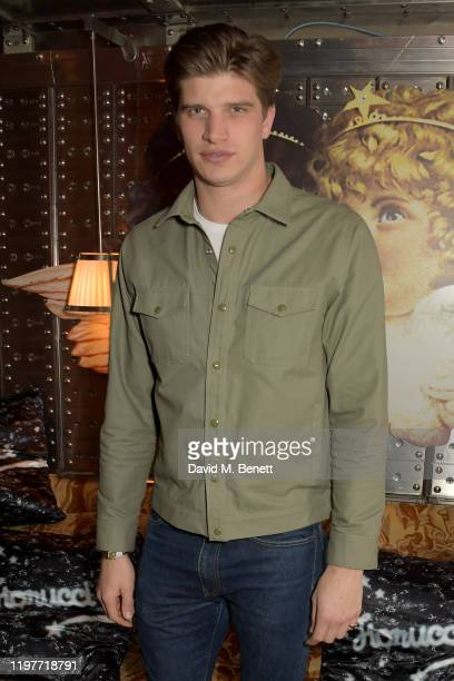 Toby HuntingtonWhiteley attends the Fiorucci Launch X Ned's Club event at The Ned on January 05 2020 in London England