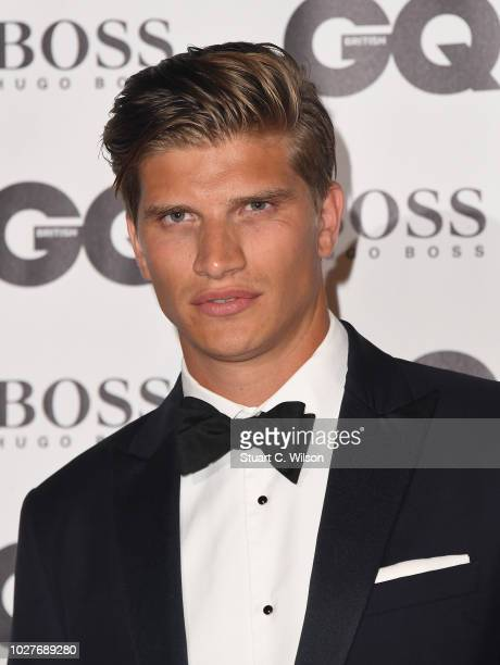 Toby HuntingtonWhiteley attends the GQ Men of the Year awards at the Tate Modern on September 5 2018 in London England