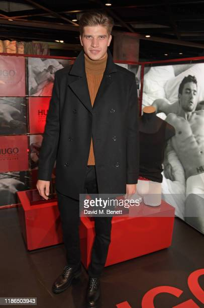 Toby HuntingtonWhiteley attends the Hugo X Liam Payne Bodywear Campaign party at Flannels on December 4 2019 in London England