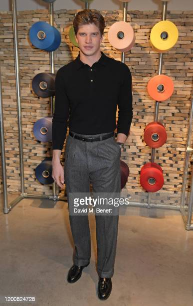 Toby HuntingtonWhiteley attends the Mulberry Made to Last dinner on February 14 2020 in London England