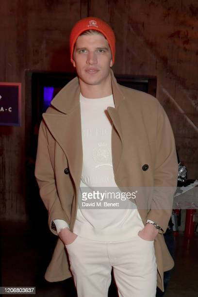 Toby HuntingtonWhiteley attends the TOMMYNOW London Spring 2020 at Tate Modern on February 16 2020 in London England