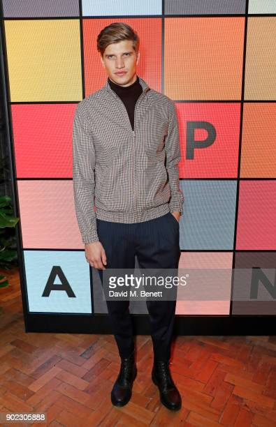 Toby Huntington-Whiteley attends the Topman LFWM party at Mortimer House on January 7, 2018 in London, England.