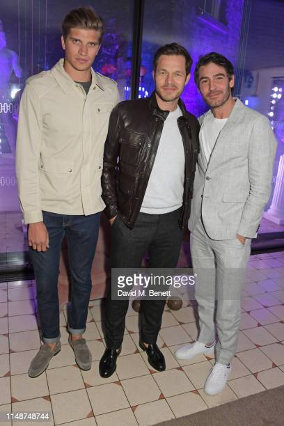 Toby Huntington-Whiteley, Paul Sculfor and Robert Konjic attend the GQ Style and Browns party to celebrate LFWM June 2019 at Soho House on June 9,...