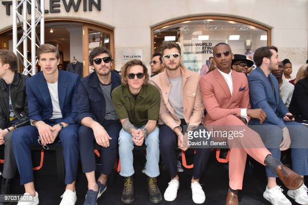 Toby HuntingtonWhiteley Robert Konjic Dougie Poynter Jim Chapman and Eric Underwood attend the St James's show during London Fashion Week Men's June...