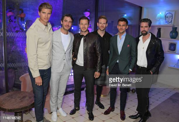 Toby HuntingtonWhiteley Robert Konjic Paul Sculfor Craig McGinlay Johannes Huebl and Jack Guinness attend the GQ Style and Browns party to celebrate...