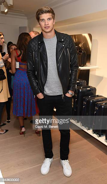 Toby HuntintonWhiteley attends the RIMOWA London concept store VIP launch party on June 29 2016 in London England