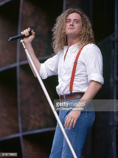 Toby Jepson of Little Angels performing on stage at Wembley Stadium in London on the 18th July 1992