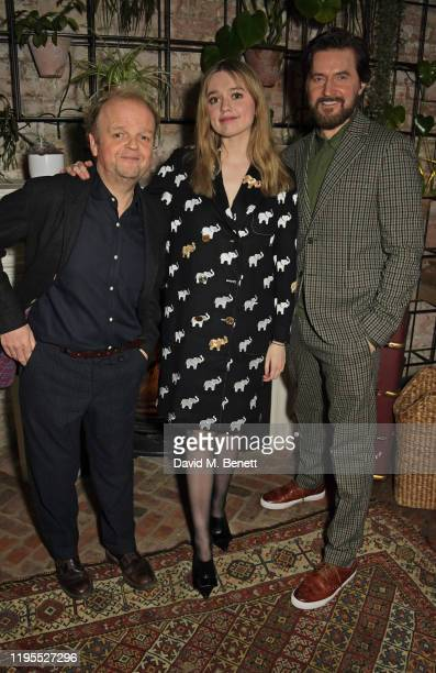 Toby Jones Aimee Lou Wood and Richard Armitage attend the press night after party for Uncle Vanya at Sophie's on January 23 2020 in London England