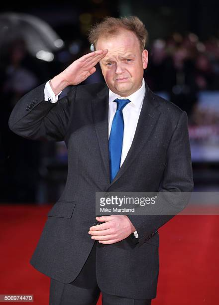 Toby Jones attends 'Dad's Army' World Premiere on January 26 2016 in London United Kingdom