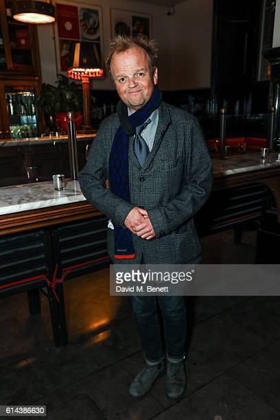 Toby Jones attends the press night after party for 'The Dresser' at The National Cafe on October 13 2016 in London England