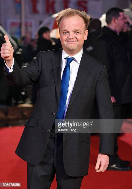 Toby Jones attends the World Premiere of 'Dad's Army' at Odeon Leicester Square on January 26 2016 in London United Kingdom