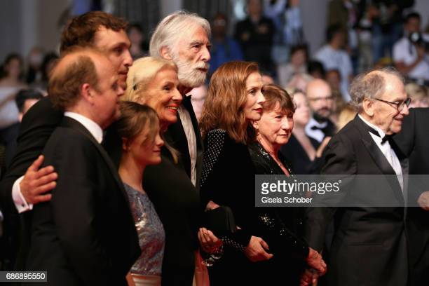 Toby Jones, Franz Rogowski, Fantine Harduin, Susi Haneke, Michael Haneke, Isabelle Huppert, Marianne Hoepfner and Jean-Louis Trintignant attend the...