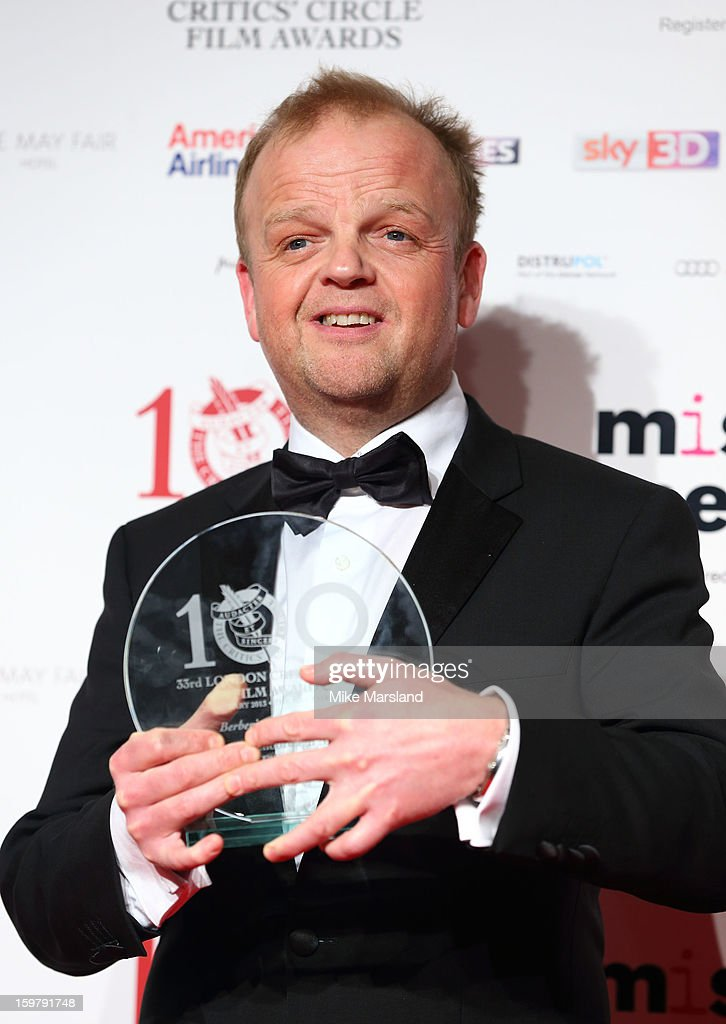 Toby Jones poses in the press room at the London Film Critics Circle Film Awards at The Mayfair Hotel on January 20, 2013 in London, England.