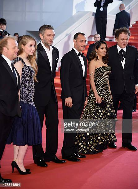 Toby JonesBebe CaveVincent CasselMatteo GarroneSalma Hayek and John C Reilly attends the Il Racconto Dei Racconti Premiere during the 68th annual...