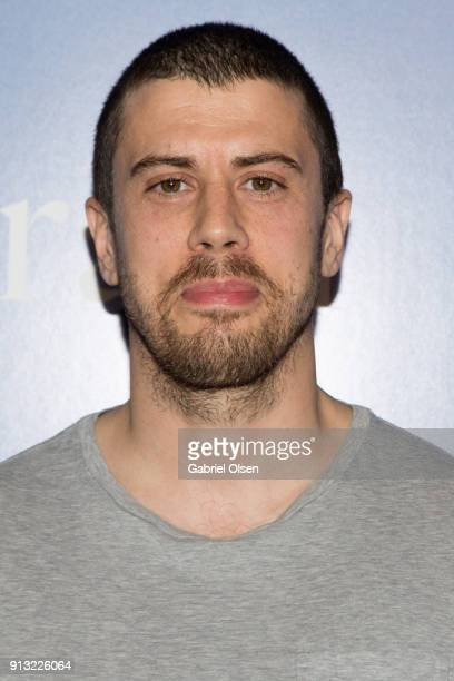 "Toby Kebbell arrives for the premiere of IFC Films' ""The Female Brain"" at ArcLight Hollywood on February 1, 2018 in Hollywood, California."