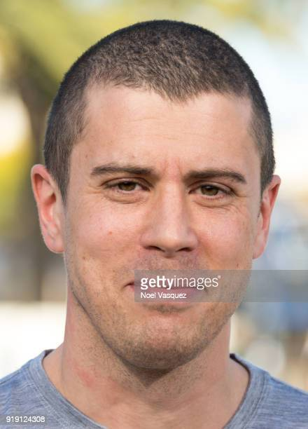 "Toby Kebbell visits ""Extra"" at Universal Studios Hollywood on February 16, 2018 in Universal City, California."