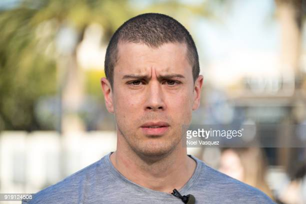 Toby Kebbell visits 'Extra' at Universal Studios Hollywood on February 16 2018 in Universal City California
