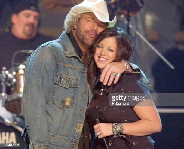 Toby Keith and daughter Krystal during 38th Annual Country Music Awards Show at Grand Ole Opry House in Nashville Tennessee United States