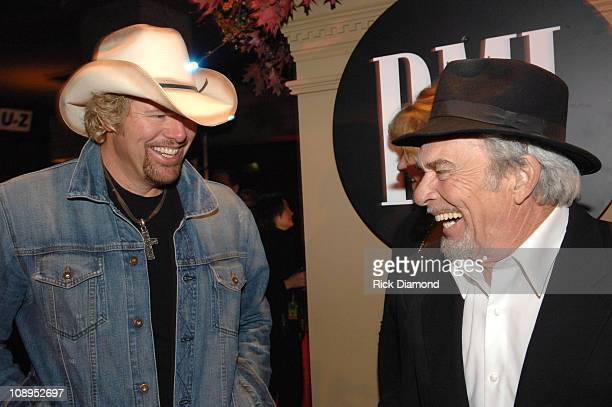 Toby Keith and Merle Haggard during 54th Annual BMI Country Awards Arrivals at BMI Offices in Nashville Tennessee United States