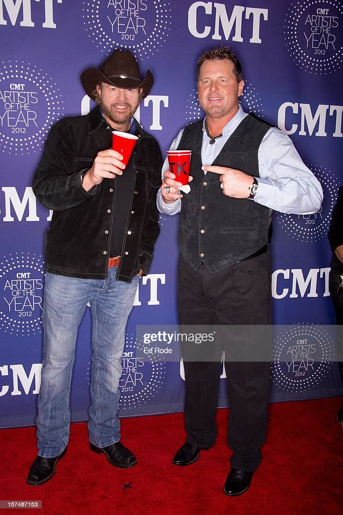 Toby Keith and Roger Clemens attend the CMT Artist of the Year Awards at The Factory At Franklin on December 3, 2012 in Franklin, Tennessee.