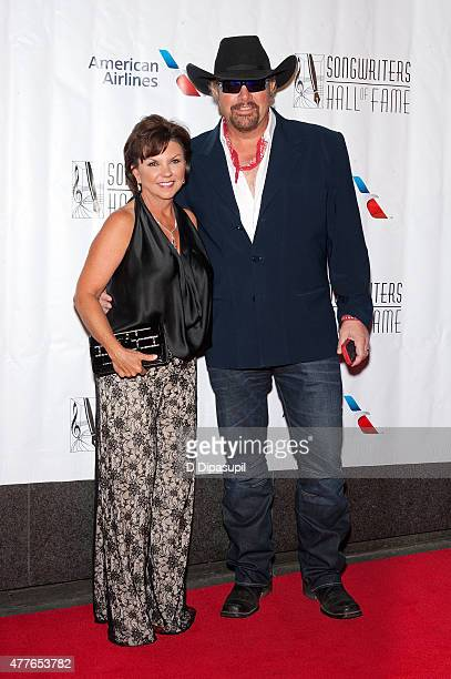 Toby Keith and Tricia Lucus attend the Songwriters Hall of Fame 46th Annual Induction and Awards at the Marriott Marquis Hotel on June 18 2015 in New...