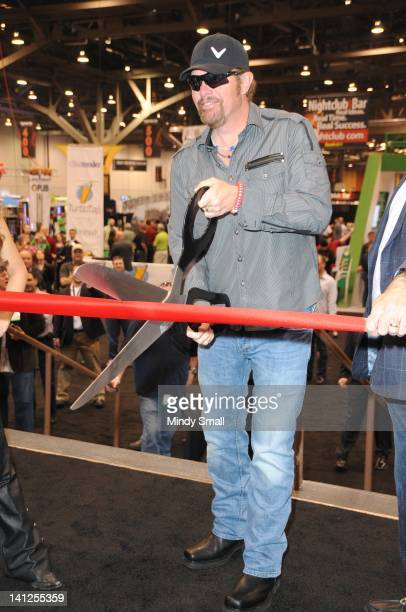 Toby Keith attends 27th Annual Nightclub & Bar Convention and Trade Show ribbon-cutting ceremony at Las Vegas Convention Center on March 13, 2012 in...