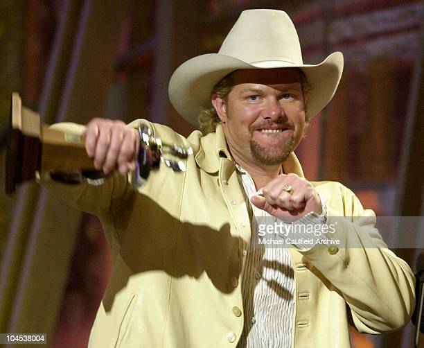 Toby Keith during The 36th Annual Academy of Country Music Awards Show at Universal Amphitheater in Universal City California United States