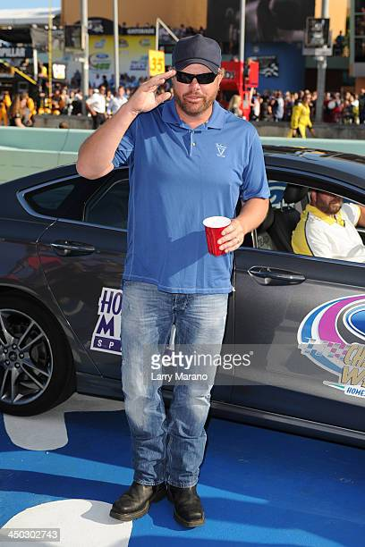 Toby Keith is sighted at HomesteadMiami Speedway on November 17 2013 in Homestead Florida