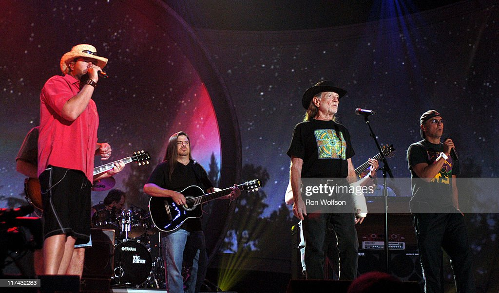 Toby Keith, Willie Nelson and Kenny Chesney during 39th Annual Academy of Country Music Awards - Dress Rehearsal at Mandalay Bay Resort and Casino in Las Vegas, Nevada, United States.