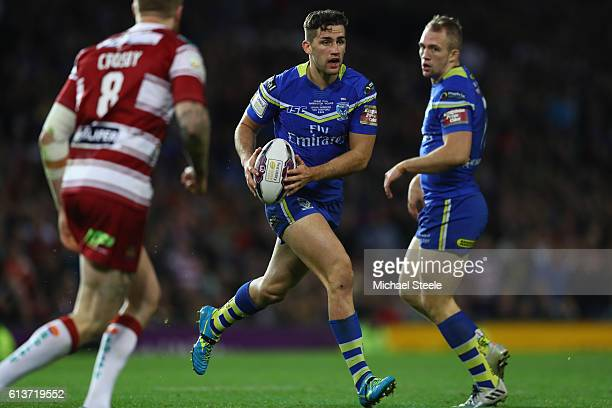 Toby King of Warrington during the First Utility Super League Final between Warrington Wolves and Wigan Warriors at Old Trafford on October 8 2016 in...