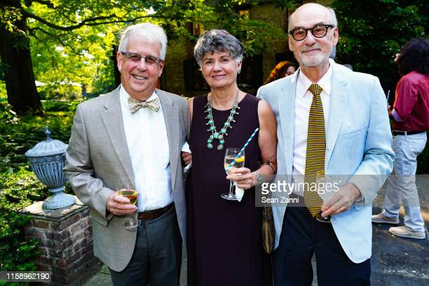 Toby Kissam Peggy Brucia and Jim Campbell attend A Country House Gathering To Benefit Preservation Long Island on June 28 2019 in Locust Valley New...