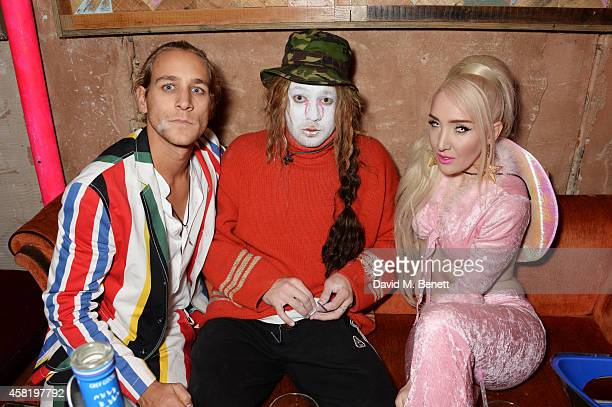 Toby Knott Tom Beard and Alexis Knox attend 'Death Of A Geisha' hosted by Fran Cutler and Cafe KaiZen with Grey Goose on October 31 2014 in London...