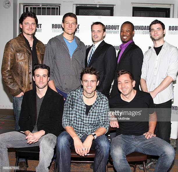 Toby Leonard Moore Gabriel Ebert James McMenamin Corey Hawkins Jake O'Connor Mike DiSalvo playwright Andrew Hinderaker and director Jonathan Berry...