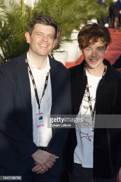 Toby Macdonald and Alex Lawther attends red carpet of Dinard Film festival opening ceremony on September 27 2018 in Dinard France