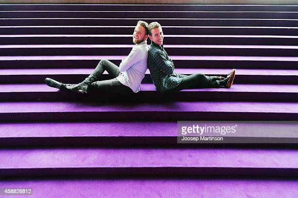 Toby Morris and Sam Burnett makers of A Lady A Robot pose during the Tropfest Australia 2014 finalist announcement at the Sydney Opera House on...