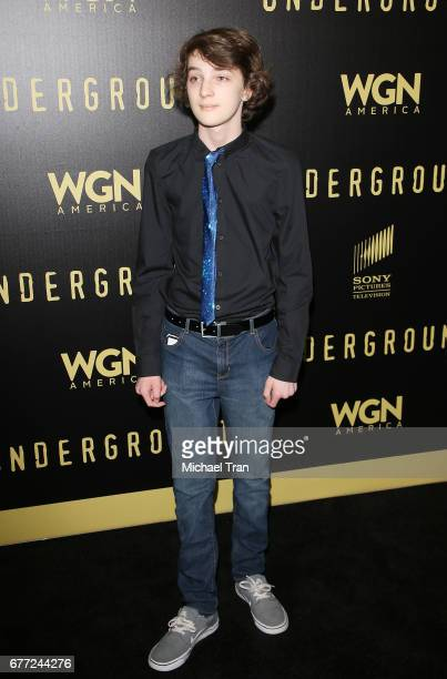 """Toby Nichols arrives at WGN America's """"Underground"""" FYC event held at The Landmark on May 2, 2017 in Los Angeles, California."""