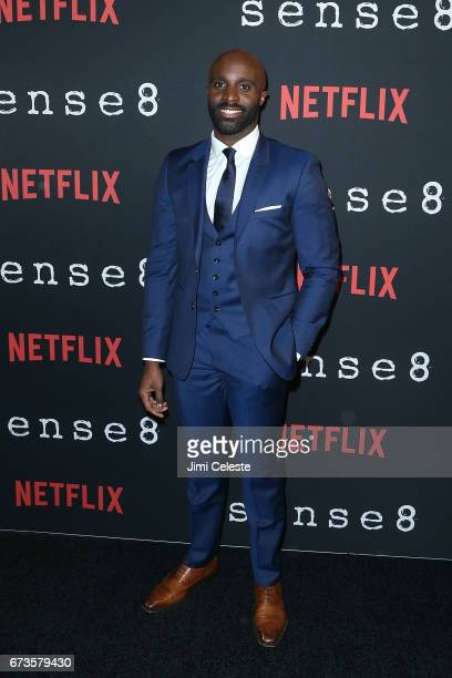 Toby Onwumere attend the Season 2 Premiere of Netflix's Sense8 at AMC Lincoln Square Theater on April 26 2017 in New York City